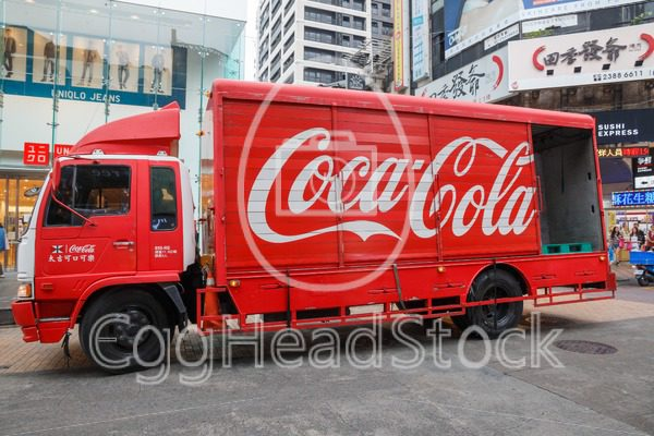 Red Coca-Cola truck in Taiwan - EggHeadStock