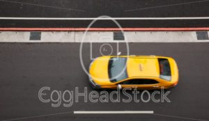 Top view of yellow cab - EggHeadStock