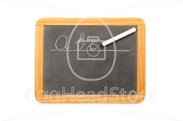 Abc written on vintage chalkboard - EggHeadStock
