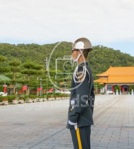 Guard at National Revolutionary Martyrs' Shrine - EggHeadStock