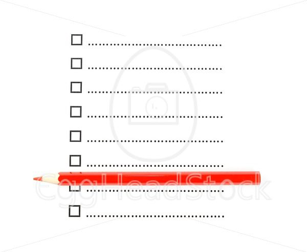 Red pencil with list of unchecked checkboxes - EggHeadStock