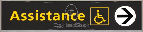 Sign for persons requiring special assistance - EggHeadStock