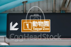 Subway line 1 with destination Taipei Zoo - EggHeadStock