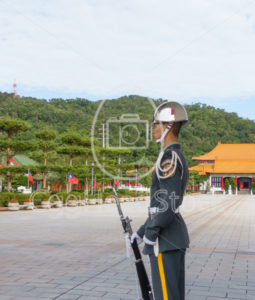 Honor guard at Martyrs' Shrine dedicated to the war dead of the ROC - EggHeadStock