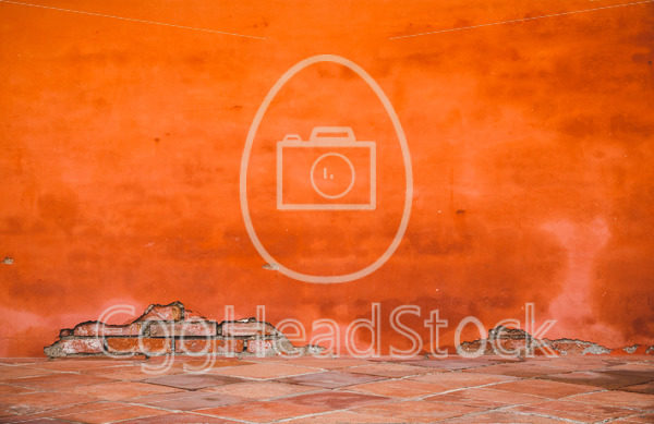 Oriental orange-red brick wall - EggHeadStock