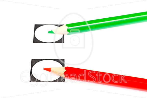 Vote with a green or red pencil - EggHeadStock
