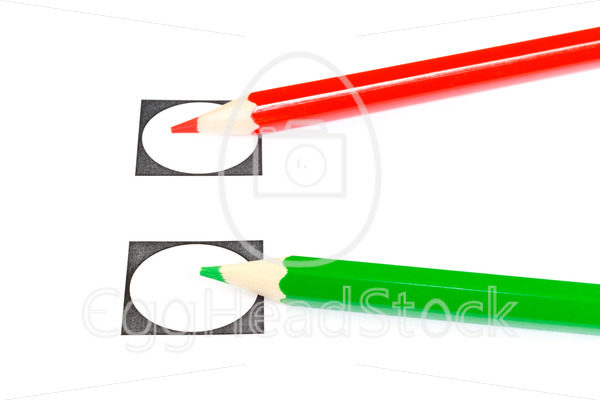 Vote with a red or green pencil - EggHeadStock