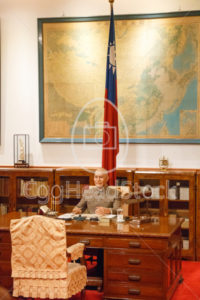 Wax sculpture of President Chiang Kai-shek in his recreated office - EggHeadStock