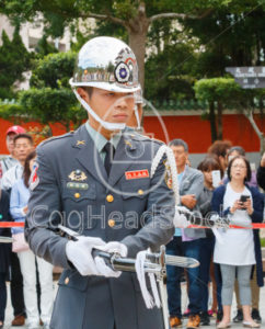Changing of the ceremonial guards at National Revolutionary Martyrs' Shrine with tourist in the background - EggHeadStock