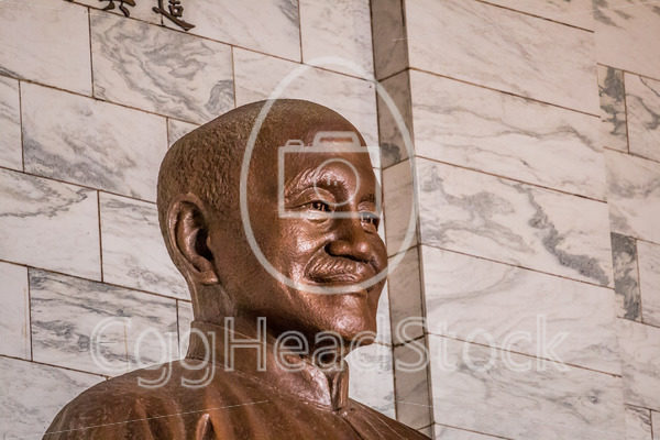 Close-up of the seated bronze statue of Chiang Kai-Shek - EggHeadStock