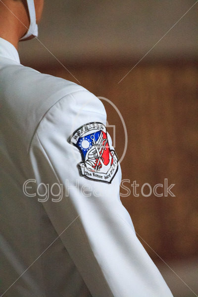 Close-up of the shoulder sleeve insignia of The Honor Guard of ROC at the Chiang Kai-Shek Memorial Hall in Taipei - EggHeadStock
