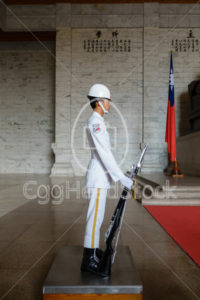Soldier of The Honor Guard of ROC at the Chiang Kai-Shek Memorial Hall in Taipei - EggHeadStock