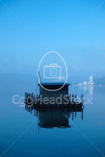 Taiwanese fishing boat on Sun Moon Lake - EggHeadStock