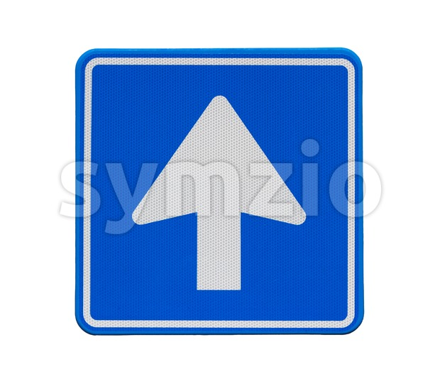 One-way traffic Stock Photo