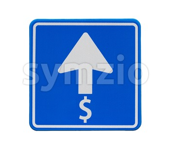 The dollar is heading only one direction: up Stock Photo