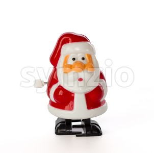 Wind-up Santa Stock Photo