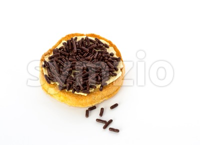 Dutch biscuits with sprinkles Stock Photo