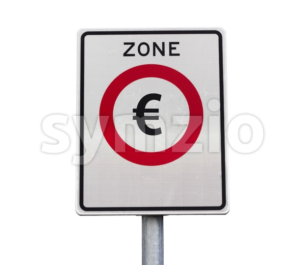 Euro zone road sign Stock Photo