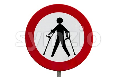 Prohibited for persons with reduced mobility Stock Photo
