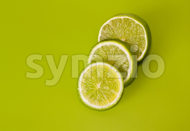 Sliced lime Stock Photo
