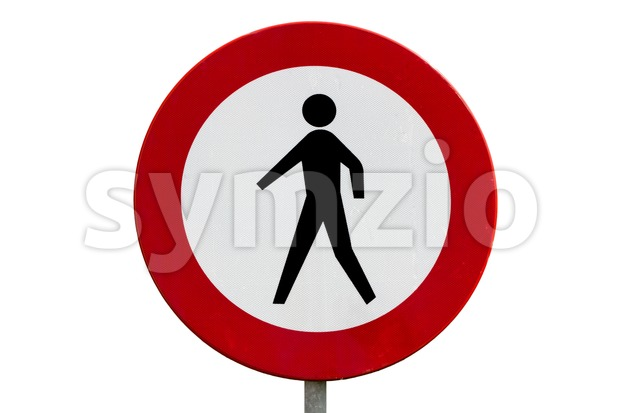 No pedestrians road sign Stock Photo