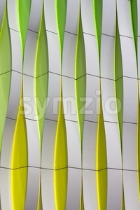 Detail of a modern facade with curved elements Stock Photo