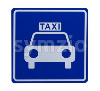 Road sign indicating a taxicab stand Stock Photo