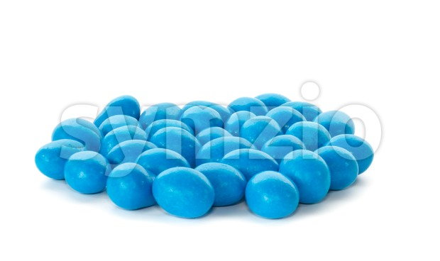 Bunch of blue chocolate sweets Stock Photo