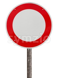 No vehicles traffic sign Stock Photo