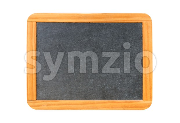 Empty vintage blackboard with wooden frame Stock Photo
