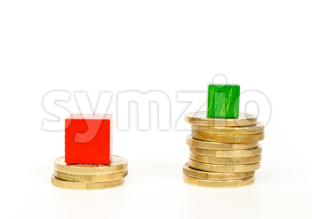 Difference in mortgage payments Stock Photo