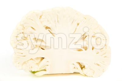Half a cauliflower without leaves Stock Photo