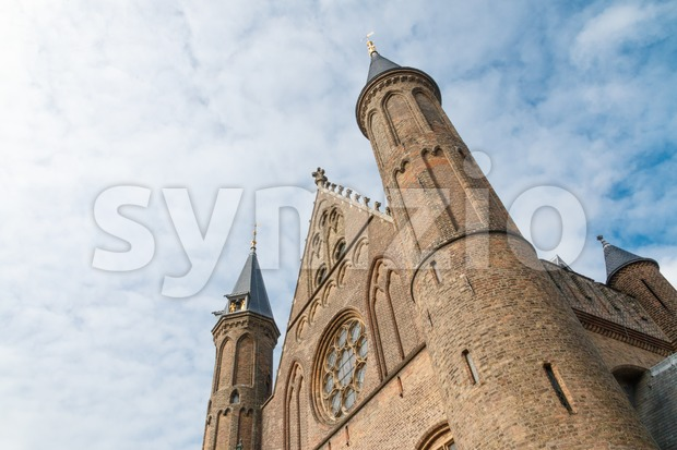 Oblique view of the Hall of Knights (Ridderzaal) in The Hague, Netherlands Stock Photo