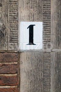 House number one Stock Photo