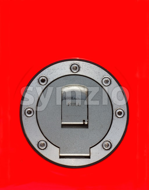 Top view of fuel cap of motorcycle Stock Photo