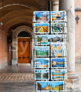 Rack with postcards in The Hague, Netherlands Stock Photo