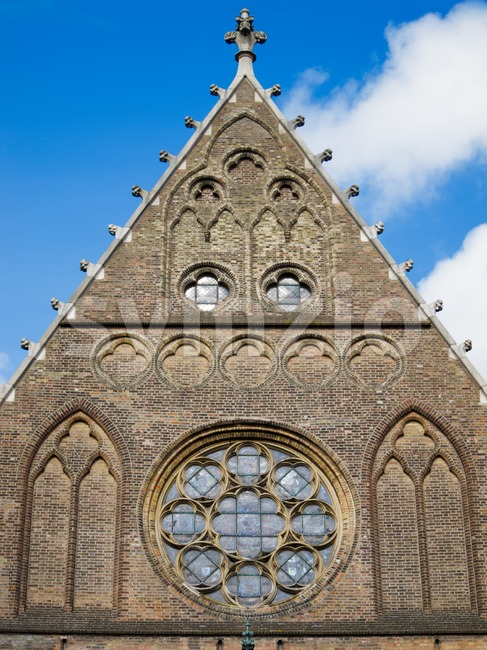 Top of the facade of the Hall of Knights in The Hague, Netherlands Stock Photo