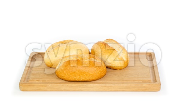 German style bread rolls on a breakfast tray Stock Photo