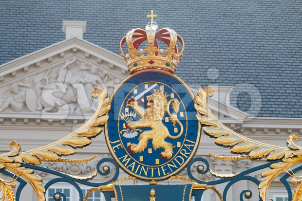 Coat of arms of the Kingdom of the Netherlands Stock Photo