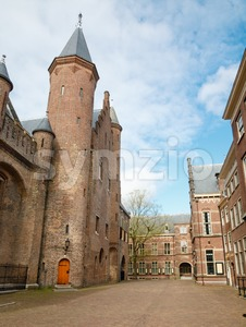 View on the northeast side of the Binnenhof, The Hague Stock Photo