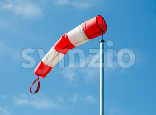 Frayed windsock Stock Photo