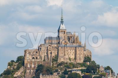 Le Mont Saint-Michel in the late summer sun Stock Photo