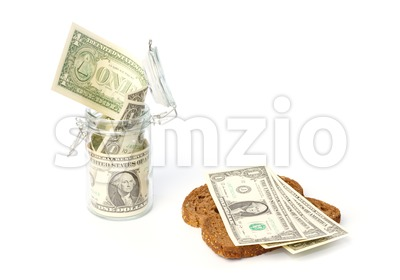 Income saving and spending in a household Stock Photo