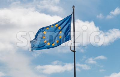 Waving flag of the European Union Stock Photo