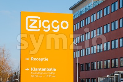 Office and customer service desk of Ziggo, the largest cable operator in the Netherlands Stock Photo