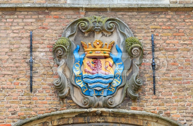 Coats of arms of the Dutch province of Zeeland Stock Photo