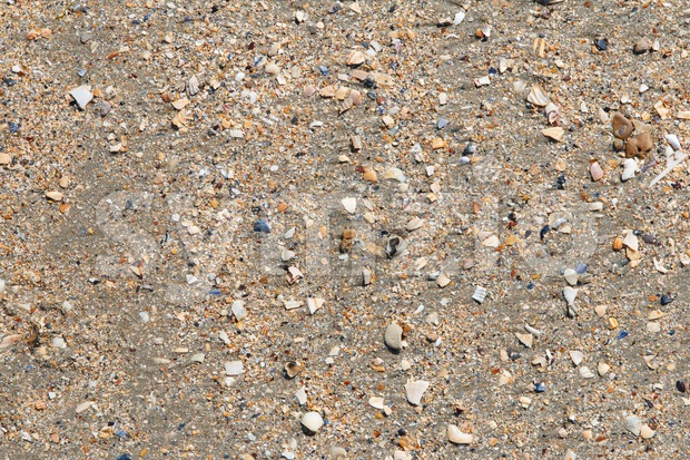 Close up of the sand on Utah Beach, Normandy, France