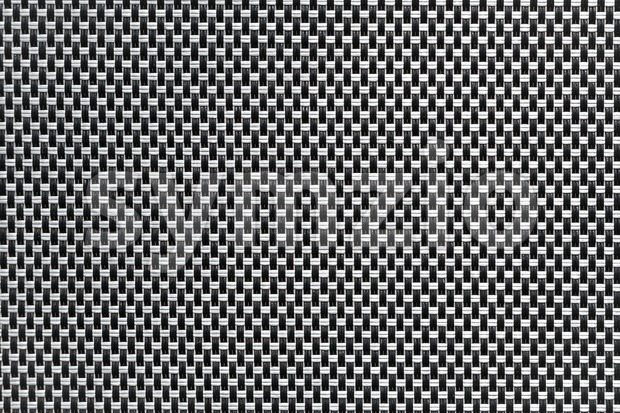 Black and white textured woven synthetic background