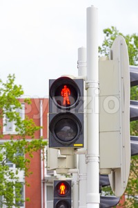 Dutch pedestrian light Stock Photo