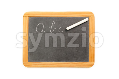 Abc written on vintage chalkboard Stock Photo